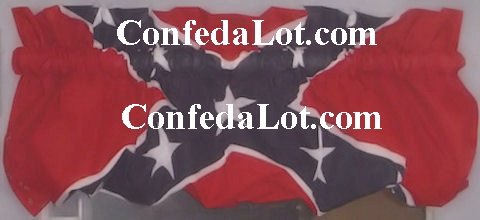 Confederate Poof  VaLance New can convert from Poof to Regular Flat - 2 valance in 1