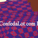 Confederate TWIN Size BLUE/RED Sheet Set NEW