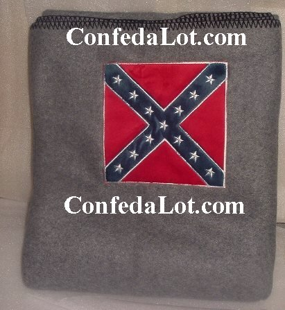 Confederate Calvary Fleece Throw Blanket 4ft x 5ft NEW