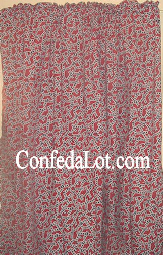 Confederate Window Curtains Set 2 Panel 48in x 84in NEW