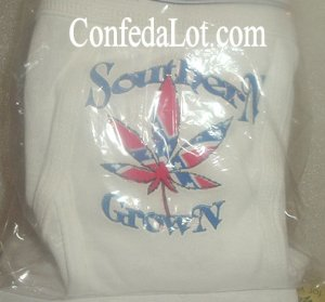Confederate Underwear says SOUTHERN GROWN and features a Confederate MariJuana Leaf NEW