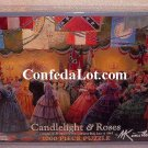 Puzzle Confederate Candlelight and Roses 1000 Piece Puzzle NEW