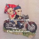 ReBeL Skull and Bone Bikers - Male and Female Skeletons on their Motorcycle NEW Very Unique style 2