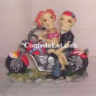 ReBeL Skull and Bone Bikers - Male and Female Skeletons on their Motorcycle NEW Very Unique style 3