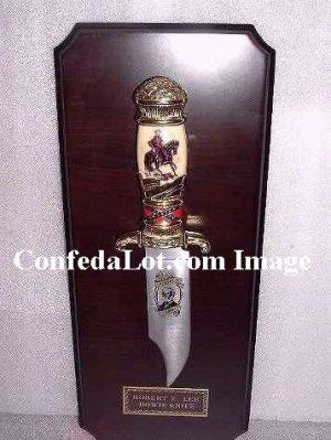 Robert E Lee Collectors Knife and Plaque set NEW Confederate Civil War