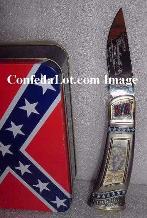 Battle of Chancellorsville General Stonewall Jackson Tin Case Collectors Knife set NEW Confederate
