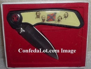 Confederate Generals Knife  NEW Features All the Generals Gift edition