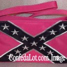 Ladies Purse Confederate Flag Hot Pink Fine Embroidered Ladies Purse with Strap - NEW Hot Pink