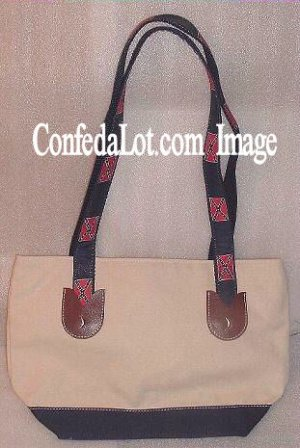Confederate Flag Zippered Tote Purse with Straps NEW