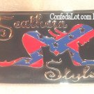 Confederate Sexy Girl  Belt Buckle - Features a Girl in a Rather Provocative Position NEW