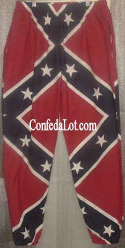 Confederate Pants Full Flag Casual Lounging Pants NEW