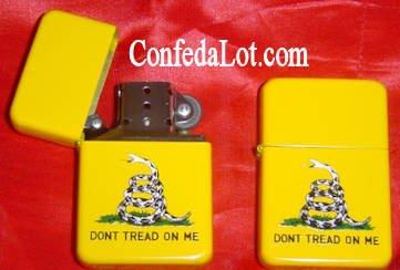 Gadsden Don't Tread on Me Refillable Lighter NEW Tea party rattle snake