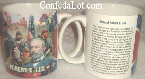 Confederate Robert E Lee Collage Mug NEW Heavy duty fine Quality Porcelain