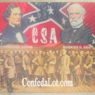 Confederate Robert E Lee Jefferson Davis and the Generals Portrait Pad Mousepad Coaster Placemat...