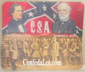 Confederate Robert E Lee Jefferson Davis and the Generals Portrait Pad Mousepad Coaster Placemat...