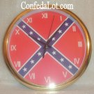 Confederate Flag Quartz WaLL Clock NEW
