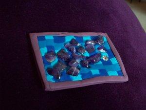 Amethyst beads pin