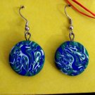 Earth swirl earrings