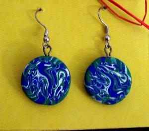 Earth swirl earrings