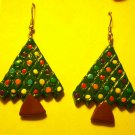 Christmas tree earrings, large