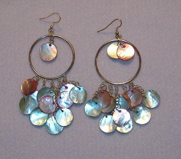 Large Hooped Shell Earrings