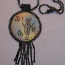 Handpainted Pictagraph Fringed Pendant