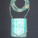 Turquoise and Gold Amulet Bag