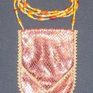 Red Faux Snakeskin Amulet Bag