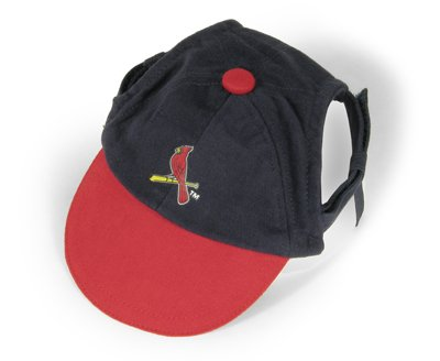St Louis Cardinals Logo Dog Baseball Cap Hat Size X-Small