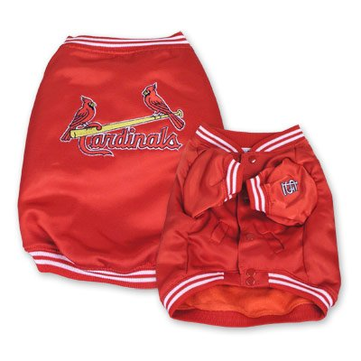 St Louis Cardinals MLB Dugout Dog Jacket Coat Size Small
