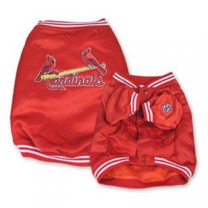 St Louis Cardinals MLB Dugout Dog Jacket Coat Size Small