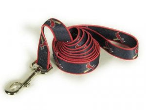 St Louis Cardinals Logo Dog Leash 6 Ft Size Large