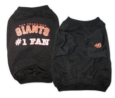 San Francisco Giants #1 Fan Dog T-Shirt Size Large