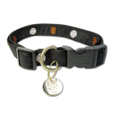 San Francisco Giants MLB Dog Collar with ID Tag Size M/L