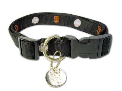 San Francisco Giants MLB Dog Collar with ID Tag Size Small