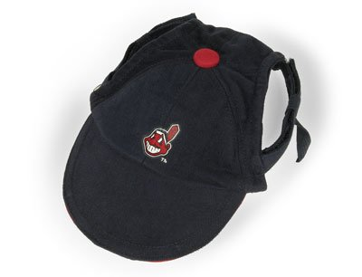 Cleveland Indians MLB Dog Baseball Cap Hat Size M/L
