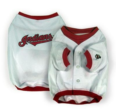 Cleveland Indians MLB Dog Baseball Jersey Shirt Size Large