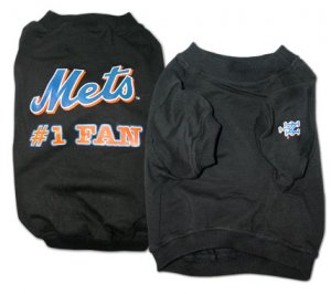 New York Mets #1 Fan Dog T-Shirt Size Medium