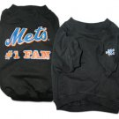 New York Mets #1 Fan Dog T-Shirt Size X-Large