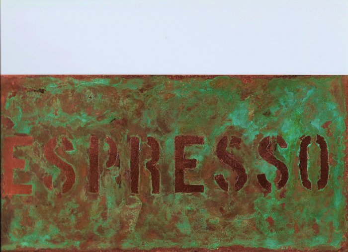 COPPER ESPRESSO SIGN
