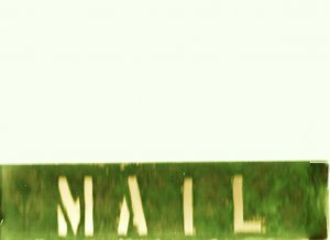 """COPPER MAIL SIGN 3"""" X 12"""""""