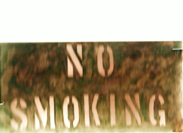 """COPPER NO SMOKING SIGN 6"""" X 12"""""""