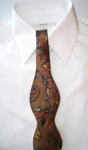 MEN'S PAISLEY SILK BOW  TIE - FREE SHIPPING WORLDWIDE!