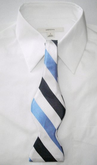 MEN'S SILK SELF-TIE BOW  TIE - FREE SHIPPING WORLDWIDE!