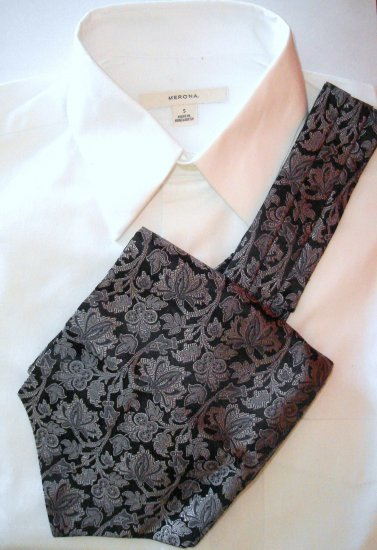 MENS WOVEN SILK ASCOT - FREE SHIPPING WORLDWIDE!