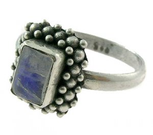 Genuine Blue Moon Stone 925 Silver Ring