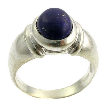 Genuine Lapis Ring set in 925 Sterling Silver
