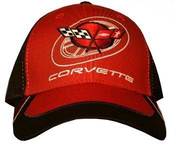 C5 Corvette Black and Red Logo Hat