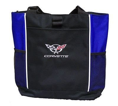 C5 Corvette Tote Bag - Blue