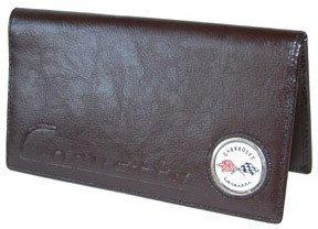 Corvette C1 Checkbook Cover - Brown Leather